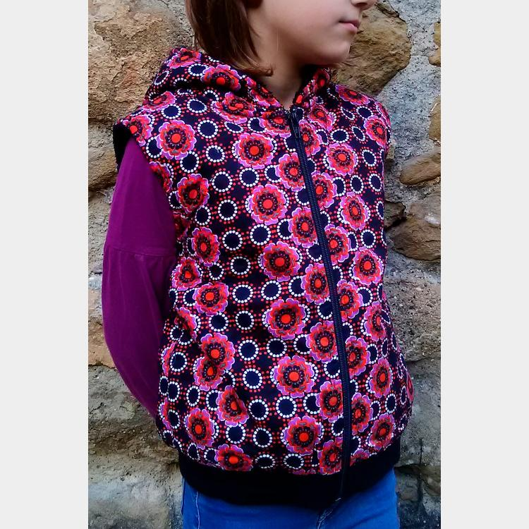 CHALECO MARGARIT  KIDDY RED FLOR